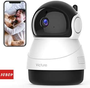 Victure 1080P FHD WiFi IP Camera Baby Monitor with Night Vision Motion Detection 2-Way Audio £20.79 Sold by Tong-EU and Fulfilled by Amazon.