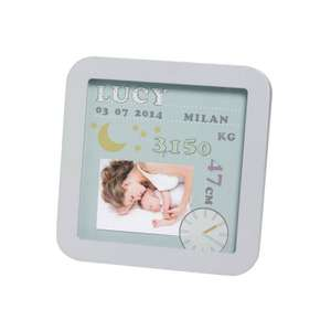 Baby Art products now under a fiver from Maxi Cosy Outlet (Baby Art - My Birth Date Birth Photo Frame £9.99)