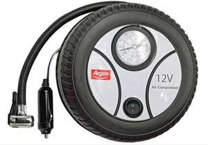 Simple Value Analogue Tyre Inflator - 12V - £6 + Free Click & Collect @ Argos