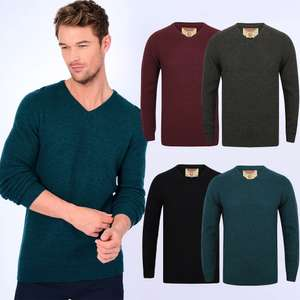 Hawes V Neck Lambswool Rich Knitted Jumper £10.99 Delivered with Code @ Tokyo Laundry