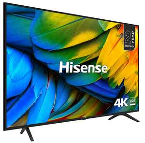"""Hisense H65B7100UK (2019) LED HDR 4K Ultra HD Smart TV, 65"""" with Freeview Play, Black/Silver + 5 Year Warranty- £499 @ John Lewis & Partners"""