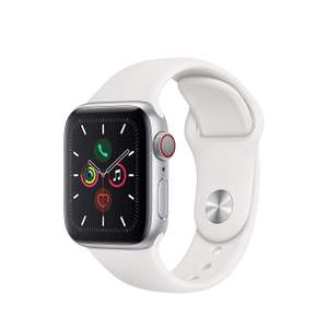 Apple Watch Series 5 (GPS + Cellular, 40mm) - Silver Aluminium Case with White Sport Band £399 Delivered @ Amazon