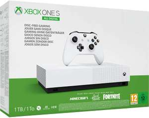 Xbox One S All-Digital Edition (Xbox One) + Minecraft + Sea of Thieves + 2000 Fortnite V Bucks + Skins £109 instore @ Tesco (Limited Stock)