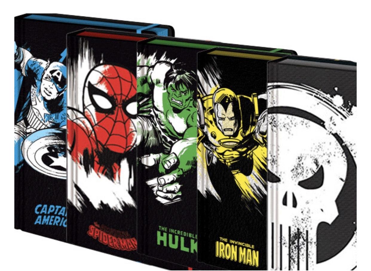 Marvel Hardback Embossed Notebooks (5Pack) £17.98 Delivered @ LicensedBargains.com (Applause Store)