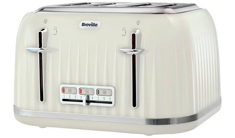 Breville Impressions 4 Slice Toaster - Cream/Black/White £24.99 @ Argos - Free C&C