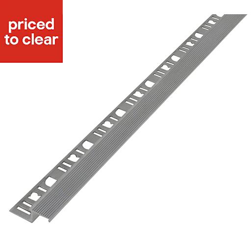 Diall Aluminium Straight Tiling trim, 11mm £2 @ B&Q