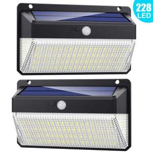 228 Outdoor LED Solar Lights (2 PACK) - 2000 Lumen, 270° Angle £23.95 Sold by XDtechs and Fulfilled by Amazon.