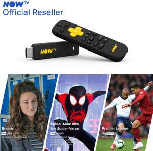 NOW TV Smart Stick with 1 Month Entertainment, 1 Month Sky Cinema + 1 Day Sky Sports Passes £14.25 delivered @ Go Groopie / Boss Deals