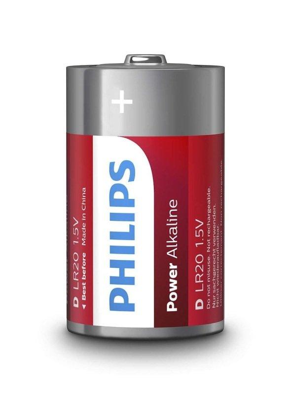 Philips Power Alkaline D LR20 Battery Pack of 10 £1.98 @ Ebuyer