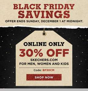 30% Off Skechers.com Black Friday Deal