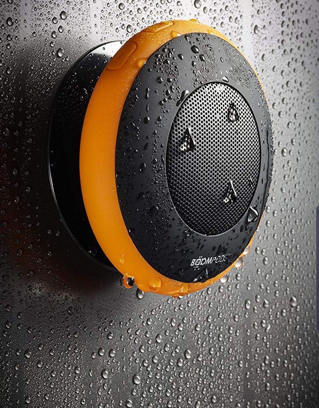 BOOMPODS Aquapod Waterproof Bluetooth Speaker (Orange) - Big Bass - 4 Other Items Bundled £17.99 prime / £22.48 non prime @ Amazon