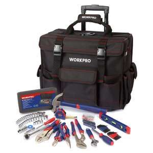 WORKPRO 176PC Tool Set with Trolley Tool Bag only £29.99 Sold by GreatStarTools and Fulfilled by Amazon