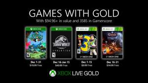 Games with Gold for December - Jurassic World Evolution / Insane Robots / Toy Story 3 / Castlevania: Lords of Shadow – Mirror of Fate HD