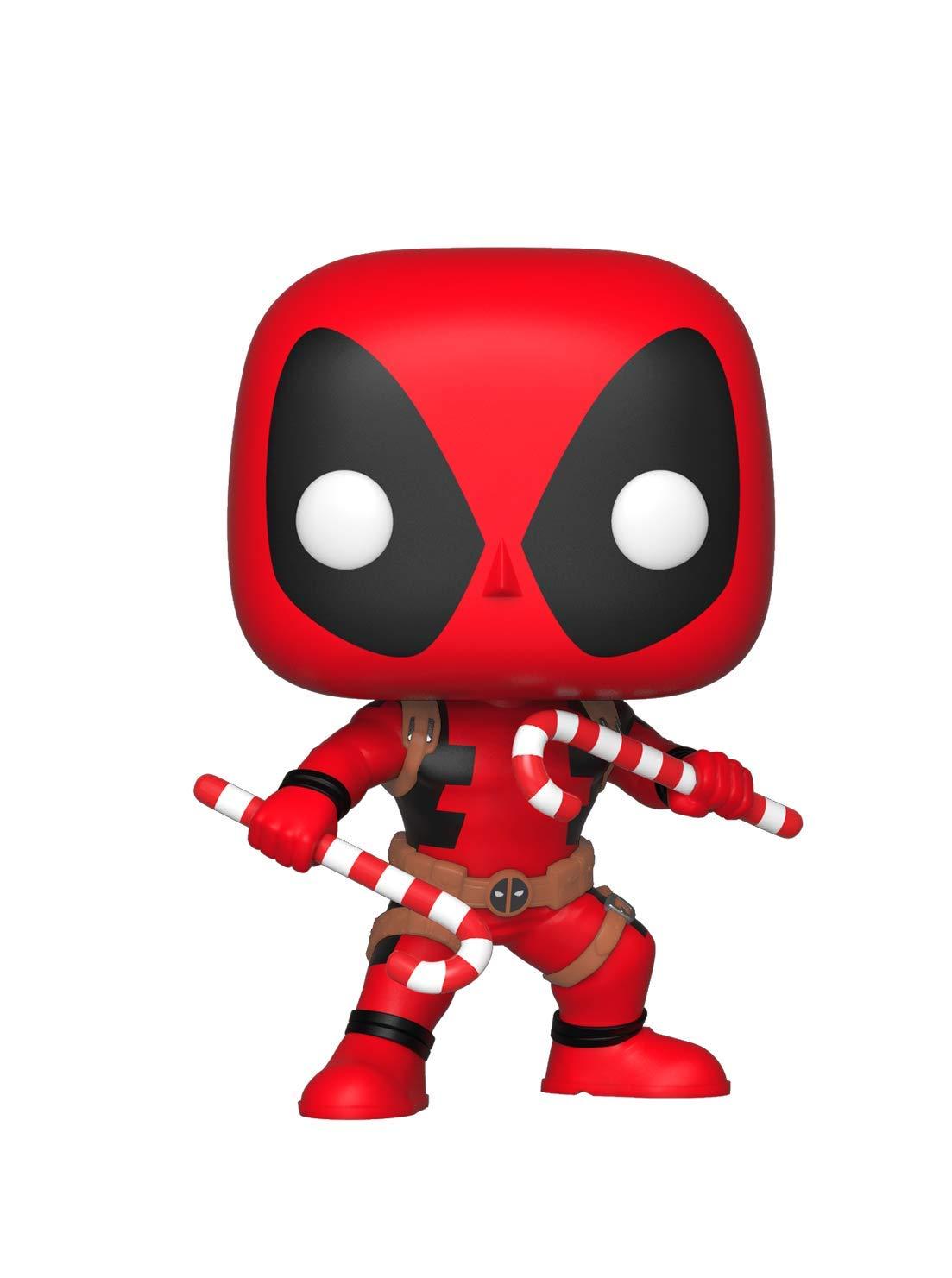 Funko 33985 POP Bobble: Marvel: Holiday Deadpool w/Candy Canes, Multi £7.49 Prime / £11.98 Non Prime at Amazon