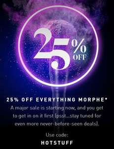 25% off everything at Morphe including JAMES CHARLES & JEFFREE STAR& JACLYN HILL