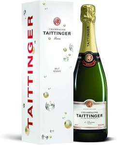Taittinger Brut Reserve Non Vintage Champagne with Gift Box, 75 cl £24 @ Amazon
