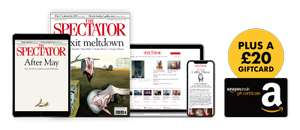 The Spectator Magazine 12 issues for £12 + Get a £20 Amazon or John Lewis/Waitrose Voucher!