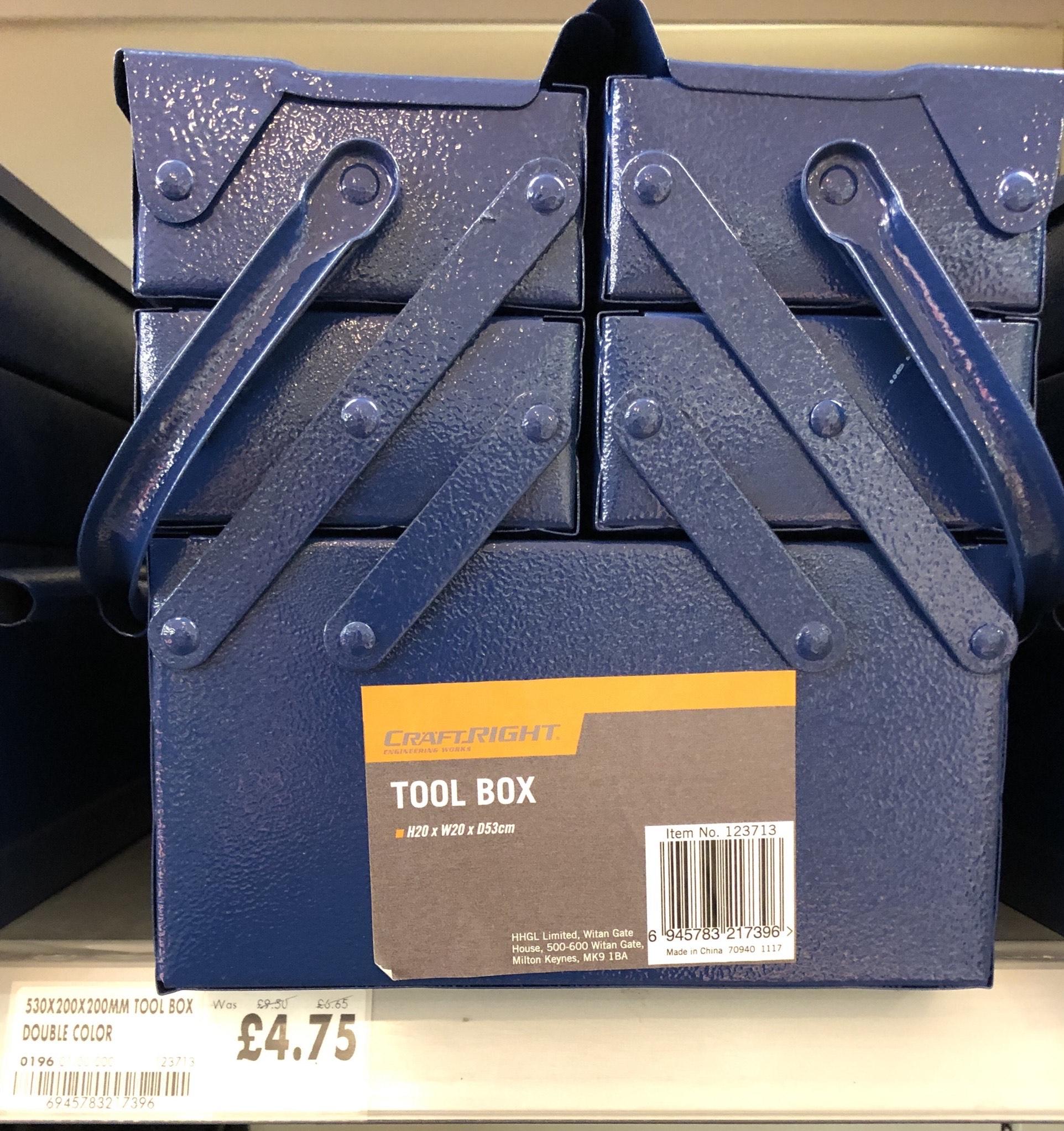 Craftright Tool Box - £4.75 at Homebase