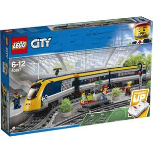LEGO 60197 City Trains Passenger Train Set, Battery Powered Engine, RC Bluetooth Connection, Tracks and Accessories £72.99 @ Amazon