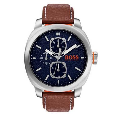 Boss Orange Brown Leather Strap Watch now £69.99 click & collect @ Argos / eBay