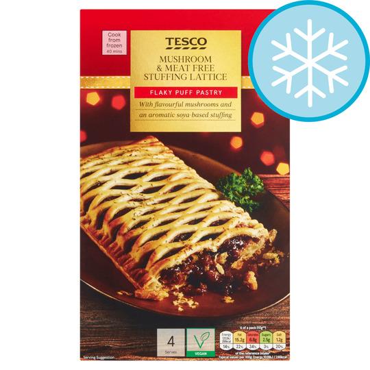 Tesco Mushroom & Meat Free Stuffing Lattice 500G (Serves 4) £2 at Tesco