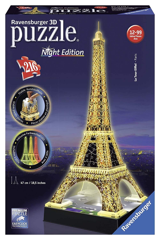 Ravensburger Eiffel Tower - Night Edition, 216pc 3D Jigsaw Puzzle® £12.49 (+£4.49 Non Prime) @ Amazon