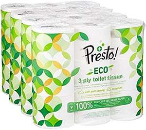 Amazon subscribe and save 20% off first order presto eco 3 ply toilet paper