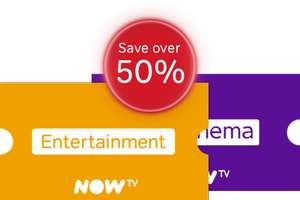 Now TV Entertainment & Sky Cinema 12 months pass for £99 (for new customers & existing customers without Sky Cinema/Entertainment Pass)