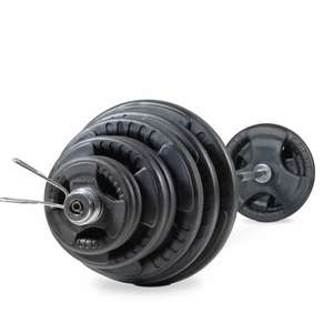 BodyMax 145kg Olympic Rubber Radial Barbell Kit with 7 ft bar and spring collars - £249 @ Powerhouse Fitness