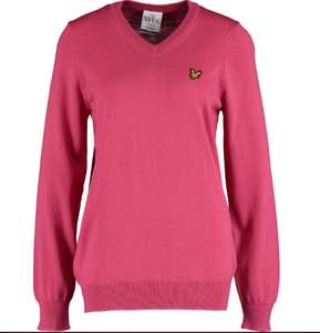 LYLE & SCOTT Fuchsia Helmsdale 100% Wool Jumper £19.99 + £1.99 click and collect @ Tk Maxx