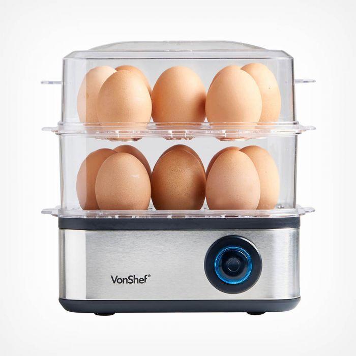 16 Egg boiler / steamer / idli / dumplings / dhokra / multi use maker - £13.99 @ Vonshef