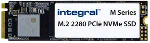 Integral 256GB m Series M.2 2280 Pcie Gen3x4 NVMe up to 2000MB/s* Read and 1200MB/s*Write SSD for £25.58/512 GB £44.40 Delivered @ Amazon UK