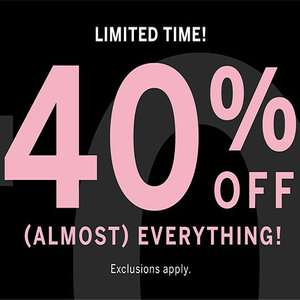 Victoria Secrets / PINK Almost 40% off EVERYTHING