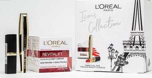 L'Oreal Paris Icons Collection Gift Set For Her: Moisturiser, Mascara & Red Lipstick Great price of £10.99 @ Very (Free Collection)