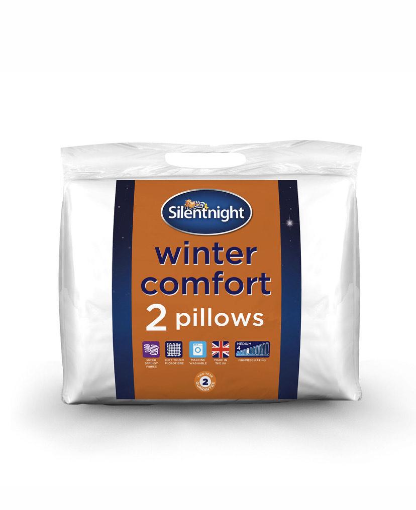 Silent night Winter Comfort Pillow pair - £8 @ Asda