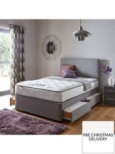 SilentnightMirapocket Freya 800 Pocket Memory Divan Bed In Single, Double And King Sizes; With Storage Or Without @ Very - £279