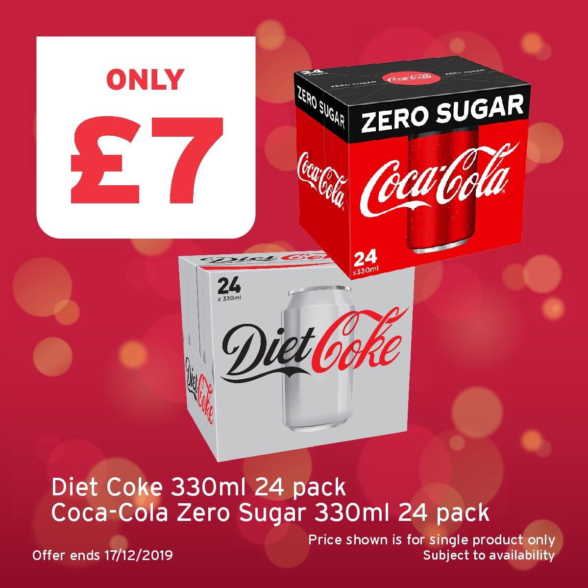 24 x Coke Zero - £6 @ One Stop (Instore Barnsley)