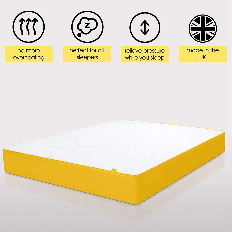 eve Sleep Original Memory Foam Mattress | UK Single, Breathable, 90 x 190 cm 10 Year Warranty, Which? Best Buy 2018 Mattress £210.99 @Amazon