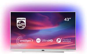 Philips 43PUS7304/12 43-Inch 4K UHD Android Smart TV with Ambilight and HDR 10+, Works With Alexa - Bright Silver £399 @ Amazon