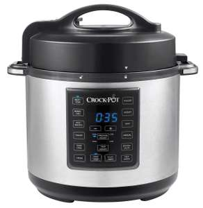 Crock-Pot Express Pressure Cooker CSC051, 12-in-1 Multi-Cooker, Slow Cooker, Steamer/ Saute, 5.6L, Stainless Steel - £47.99 @ Amazon