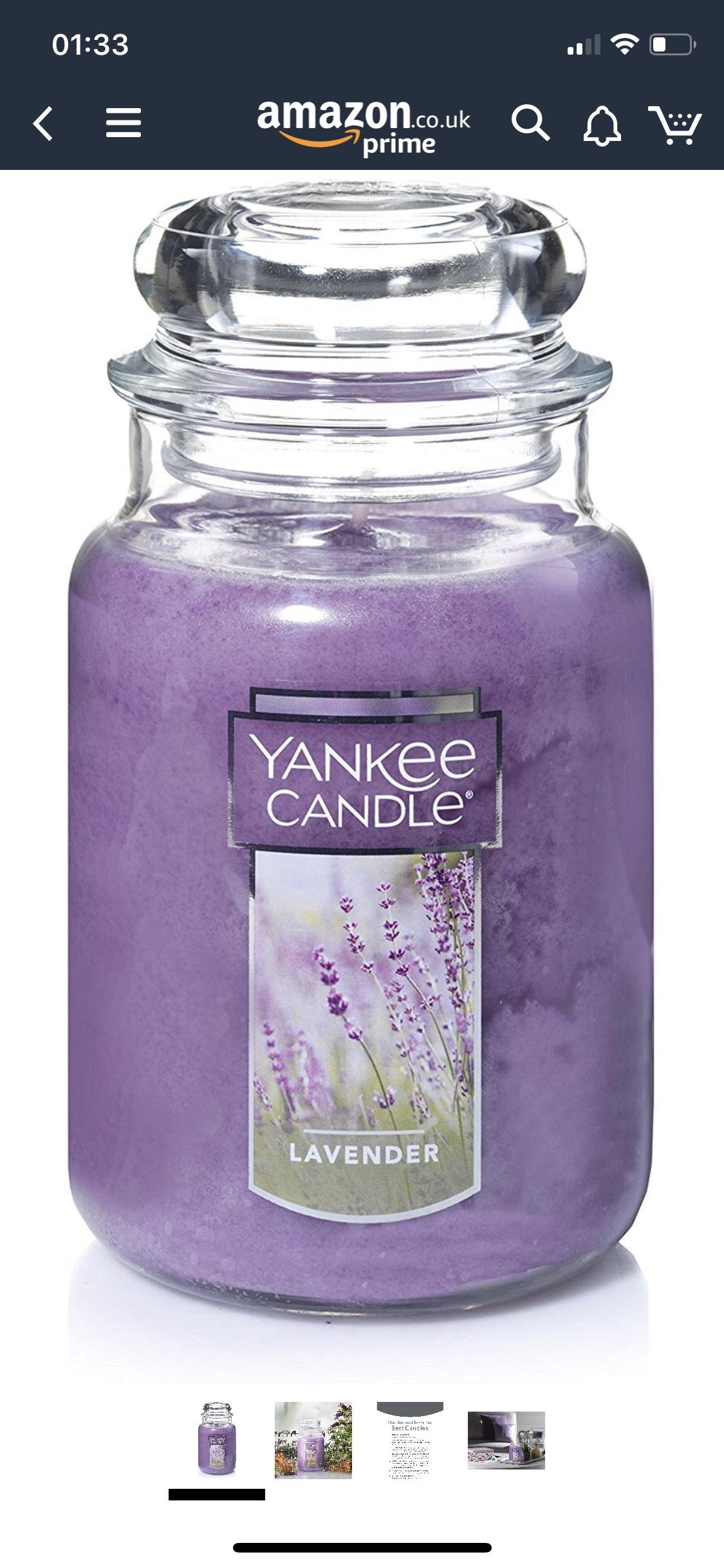Yankee Candle Lavender Large Jar £11.27 delivered at Amazon global