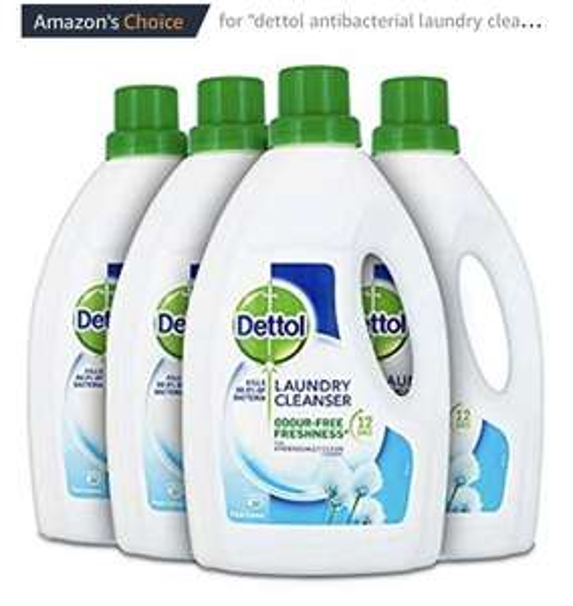 Dettol Antibacterial Laundry Cleanser Liquid Additive, Fresh Cotton, Multipack of 4 x 1.5 Litre £7.49 @ Amazon Prime / £11.98 Non Prime