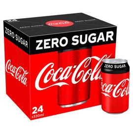 Coca-Cola Zero Sugar 24 x 330ml £5.50 @ Iceland