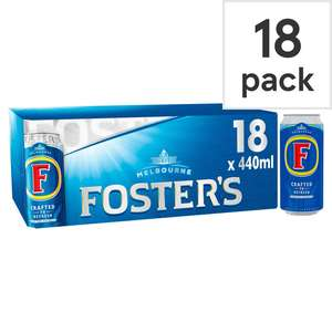 Fosters & Carling Lager 18 x 440 cans £10 Asda