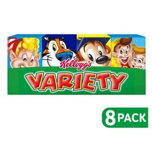 Kellogg's cereal variety pack £1.00 at Asda online and in store