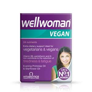 Wellwoman Vegan 60 tablets £5.42 @ Vitabiotics