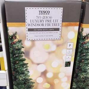 7ft Luxury Pre-Lit Windsor Fir Artifical Christmas Tree with 250 lights now £70 at Tesco instore