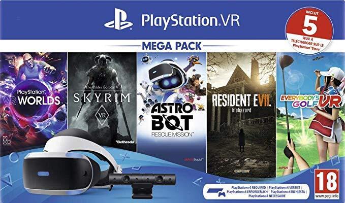 PlayStation VR PSVR Megapack Resident Evil 7, Skyrim, Astrobot, Everybody's Golf + VR Worlds £197.15 from Amazon Spain (or £189.60 fee free)