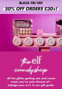 50% off Elf cosmetics on orders over £30
