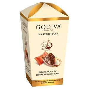 Godiva Masterpieces Caramel Lion With Belgian Milk Chocolate 193g 3 for £10 @ Morrisons mix n match/ferrero/kinder/aero/dairy box
